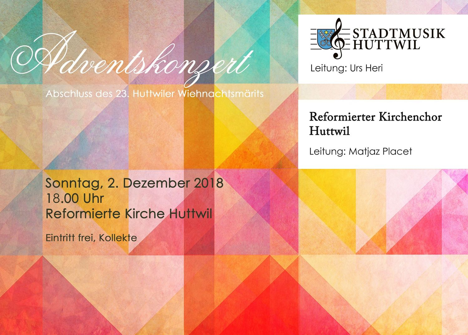 Adventskonzert 2018 Flyer